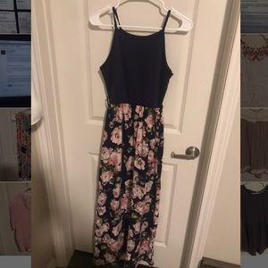 Floral navy maxi dress